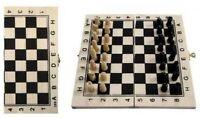 Schachspiel Schach Reiseschach Buchform Holz 21 x 21 cm für unterwegs Urlaub
