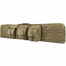 "NcStar VISM Tactical 55"" Tan Padded Double Carbine Rifle Gun Case Bag"