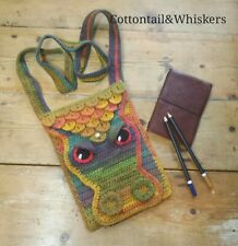 Crochet Dragon Bag, PDF Pattern, Slim Messenger Satchel Case, PATTERN ONLY