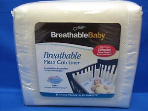 Breathable Baby Mesh Crib Liner NIP Ecru