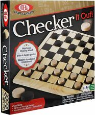 Checker Board Game Heirloom-Quality Wood Set designed for 2 players hours of fun