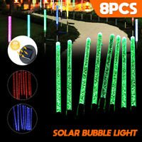 Solar Powered Garden Decor Stake Path Lawn Yard LED Outdoor Landscape Light 8pcs