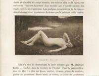 ANTIQUE ARTISTIC NUDE VICTORIAN WOMAN POND WILDFLOWERS NATURE GRASS ART PRINT