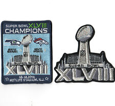 SUPER BOWL XLVIII SUPERBOWL SB 48 CHAMPION Seahawks rout Broncos 2-PATCH SET b