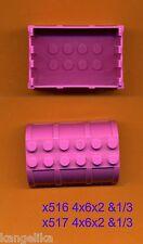 Lego--x516- Container/Kiste--pink-x517 -Deckel---Schloss-Prinzessinen-Ersatzteil