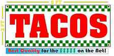 TACOS BANNER Sign NEW 2x5
