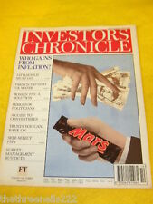 INVESTORS CHRONICLE - PERKS FOR POLITICIANS - MARCH 16 1995