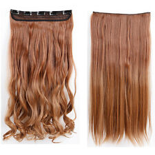 US Real Long 100% Natural Ombre hair Clip in HAIR EXTENTIONS 5 Clips AS Human ne