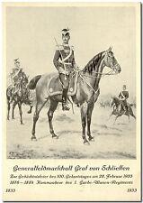 Anlaßkarte zum 100. Geburtstag Generalfeldmarschall v. Schlieffen 1933 (ungebr.)
