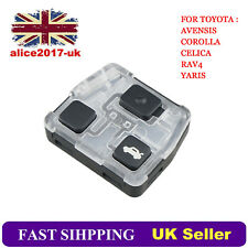 3 Button Remote Key Fob Case Repair for TOYOTA AVENSIS COROLLA CELICA RAV4 YARIS