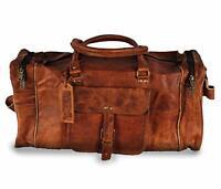 "30"" USA Made Leather Duffle Bag Sports Gym Bag weekend Travel AirCabin Luggage"
