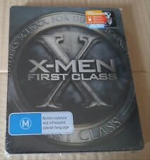 New X-Men First Class Blu-ray/DVD Metalpak (like Steelbook) Sanity Australia Ex