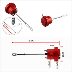 Universal Red Aluminum Alloy Car Offroad Turbo Adjustable Wastegate Actuator+Rod