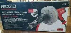 New Ridgid 35473 Hand-Held Drain Cleaner with Auto feed - Model K-45AF NEW 👍