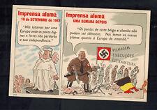 Mint WW2 Portugal Anti Nazi Propaganda Postcard German Press Slavery of Europe