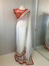 Indian Bridal Georgette Saree Sari With Readymade Designer  Blouse 10/12