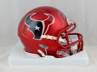Deshaun Watson Autographed Houston Texans Blaze Mini Helmet - Beckett *White