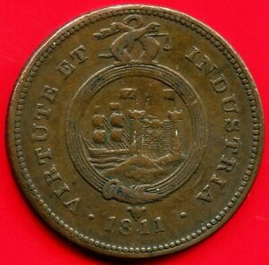 1811 Great Britain Bristol & South Wales 1 Penny Coin Token