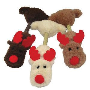 "BARGAIN 3 X Armitage Christmas Hug Tugz Mini Reindeer  (12"") Xmas dog toy Bulk"