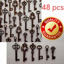 Vintage Style Antique Skeleton Furniture Cabinet Old Lock Keys Jewelry