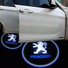 PEUGEOT 2X LED PROIETTORE LOGO AUTO TUNING SPORTELLO LUCE CORTESIA PORTIERA KIT