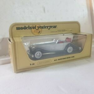 Vintage Matchbox models of yesteryear y20 1937 Mercedes Benz 540k silver