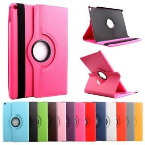 "For Apple iPad 9.7"" (2017/18) & (Air1/2) 360° Rotating Leather Swivel Case Cover"