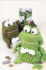 Crochet Pattern ~ FROG BANK Kids Froggie Frugal ~ Instructions