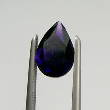 1.24 carats Pear 9x6mm Teardrop Cut Deep Purple Natural Amethyst Loose Gemstone