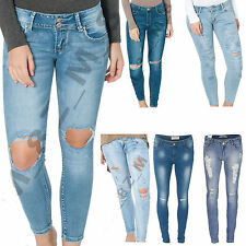 Cotton Ripped, Frayed L30 Jeans for Women
