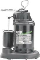 NEW WAYNE SPF33 SUBMERSIBLE PLASTIC USA MADE 1/3 HP WATER SUMP PUMP & SWITCH