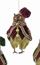 """Katherine's Collection owl ornament Christmas woodland 18-644004 red hat 6"""""""