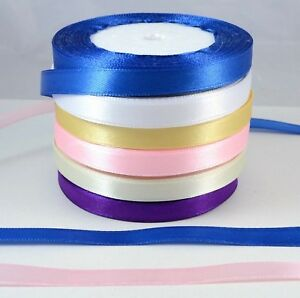 25 Metres roll 10mm Satin Ribbon for Buckle Sliders, craft Jewellery Making DIY