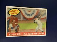 1959 Topps # 461 MICKEY MANTLE 42 HR Thrills New York Yankees RP REPRINT