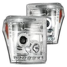 Recon Chrome Halo Projector Headlights w/ LED DRL for 11-16 F250/F350/F450/F550