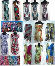 US SELLER-lot of 10 wholesale bulk short dress bohemian sundress long dress