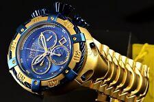 Invicta Reserve Thunderbolt Gold Stainless Steel Bracelet Watch 21347 Venom Blue