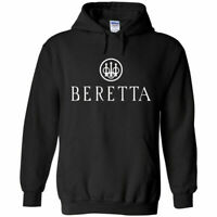 Beretta White Logo Hoodie Sweatshirt 2nd Amendment Pro Gun Rights Rifle Pistol