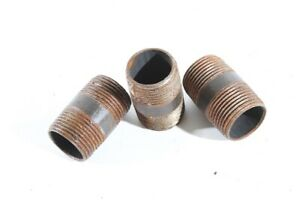 """3/4 """" 40mm Ag Threaded Fitting Double Nipple Double Pipe Nipple Langnippel Black"""