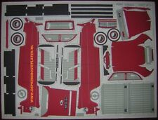 1951 Ford Consul sedan paper cut out model kit planche decoupage maquette carton
