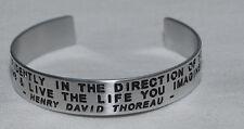 Quote By: ~ Henry David Thoreau ~ / Engraved, Hand Polished Bracelet,Gift Bag