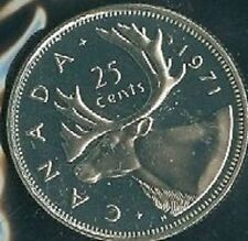 1971-PL Proof-Like Quarter 25 Cent '71 Canada/Canadian BU Coin Un-Circulated