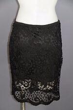Gingham & Heels women's Size 10 black crochet lace overlay skirt