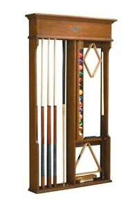 Brand New Pool Table Accessories Brunswick Centennial Wall Rack - Espresso Stain