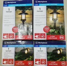 4 - Westinghouse LED Landscape Lighting Spot/Pathway 100 Lumen Use Only 1.2 Watt