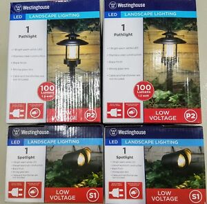 4 - Westinghouse LED Landscape Lighting Spot/Pathway 100 Lumen Use Only 1.2 Watt