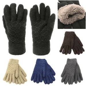 NEW Unisex Insulated Gloves Knit Winter Gloves Thermal Insulation Men Women Warm
