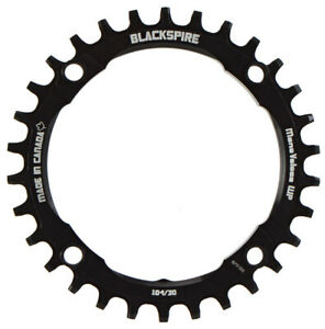 Blackspire Snaggletooth NW chainring, 104BCD 30t - black
