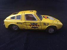 Vintage Japan Mercedes Benz  City Taxi No. 3 Tin Friction  Toy YONE