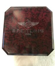 Breitling Chronomat Bakelite wood grain watch case with outer box